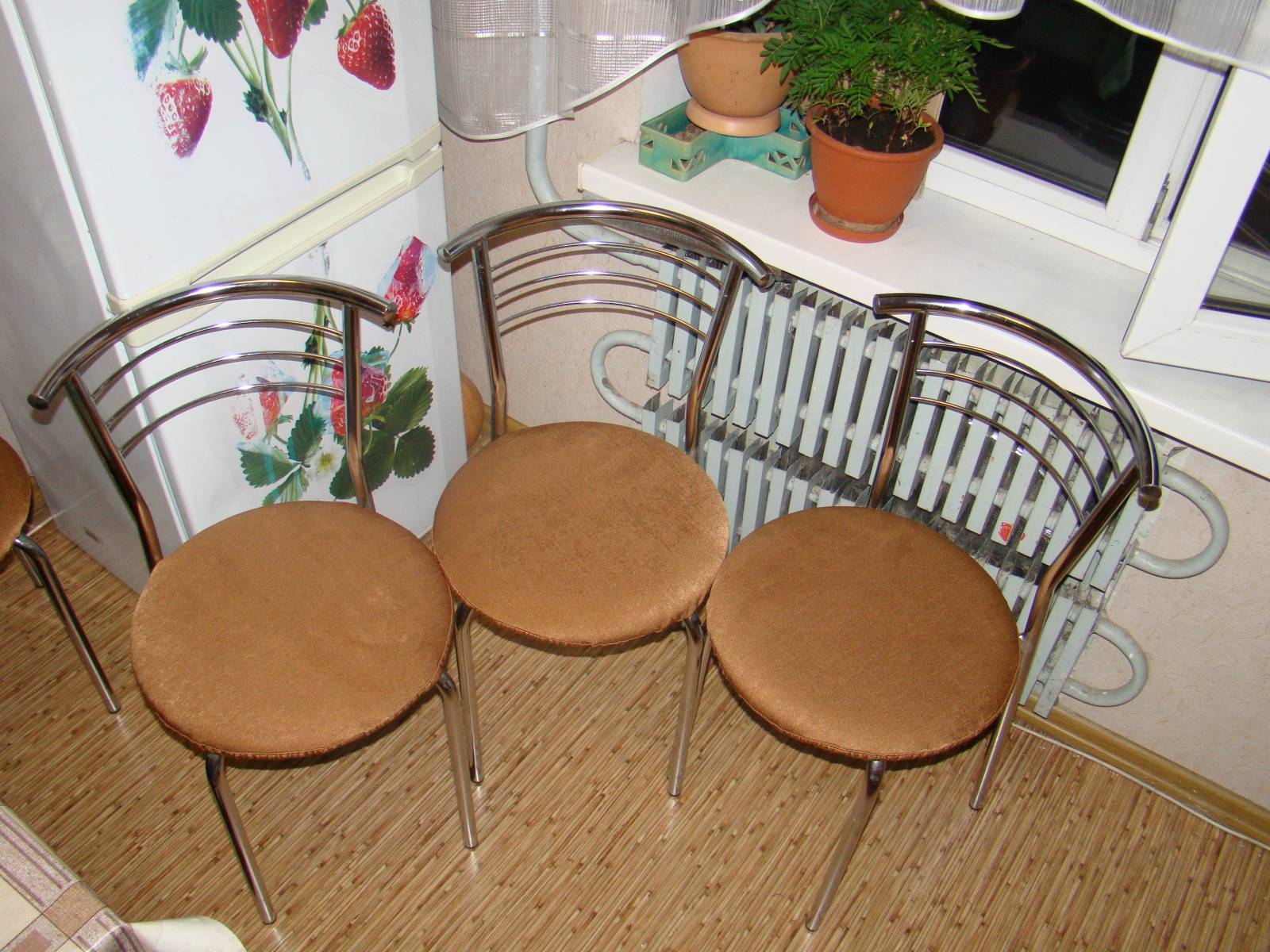 Чехлы на стулья в кухне своими руками 727